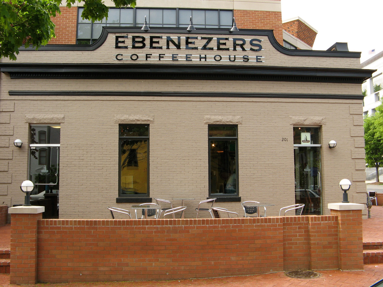 Ebenezer's Coffeehouse at 201 F St NE is located very close to Union Station.