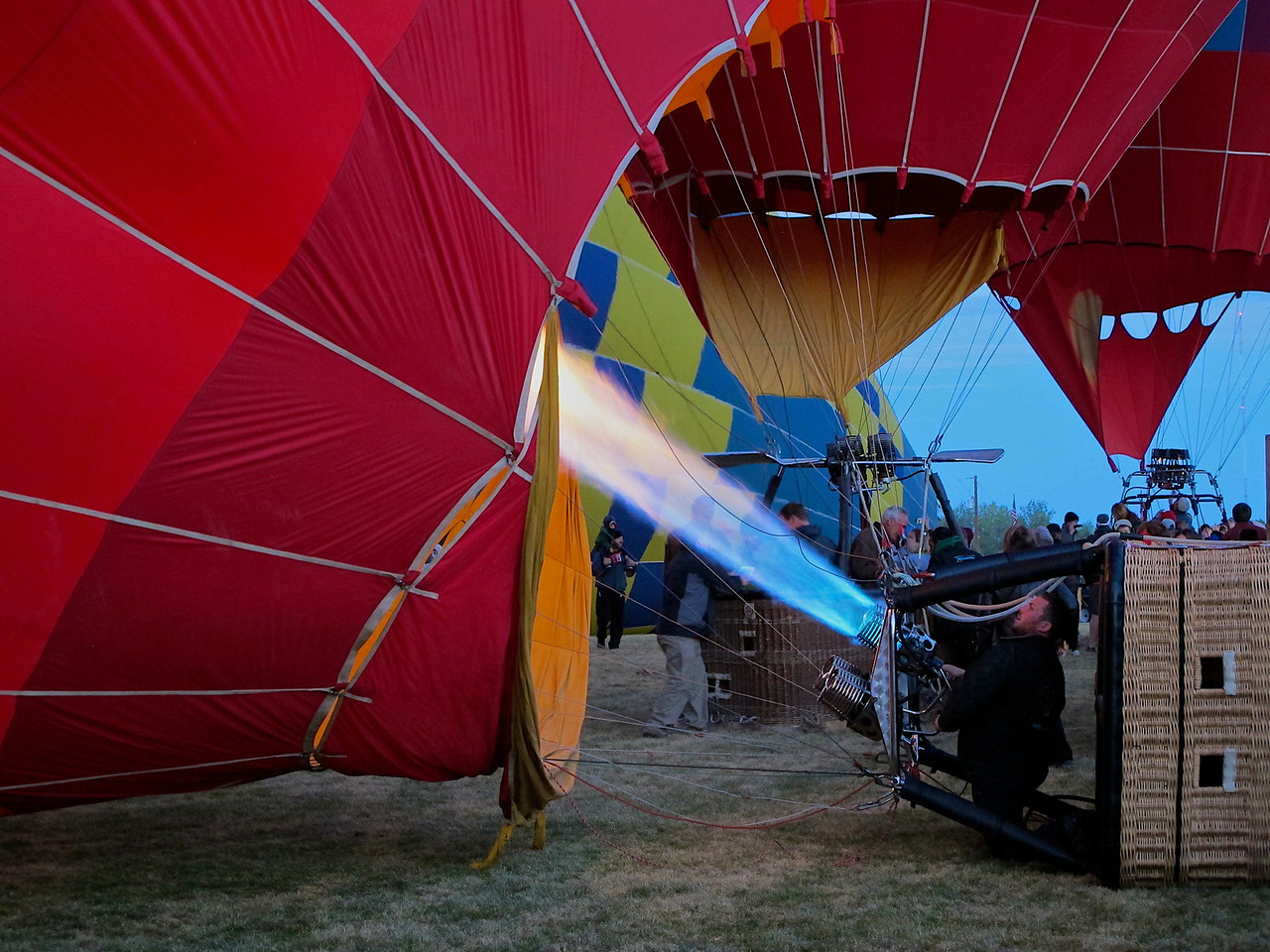 """During events involving on-field targets, such as the """"Key Grab"""" (where pilots attempt to grab prizes, including a set of keys to a new vehicle, from atop tall, flexible poles), it's not uncommon to see the same balloon make 5 or 6 passes at the targets, simply by working the """"Box"""" to keep returning to the field."""