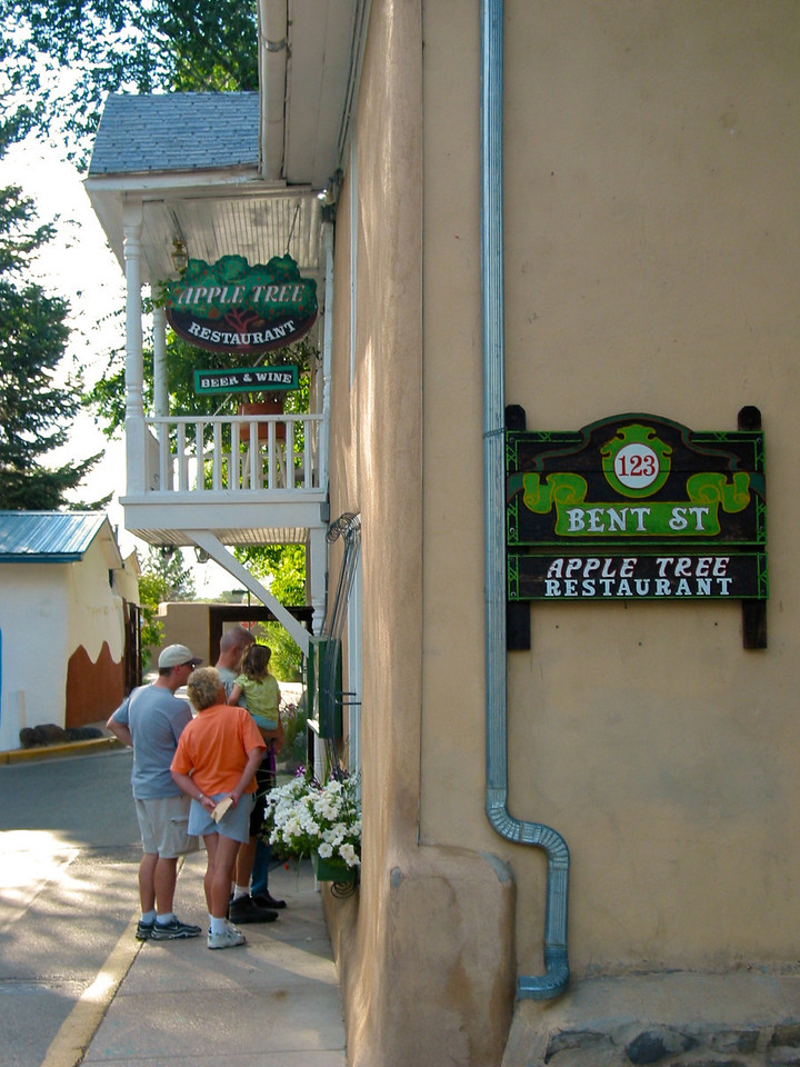 THe Apple Tree Inn was one of the best places to eat in Taos.  Unfortunately, it has since closed.