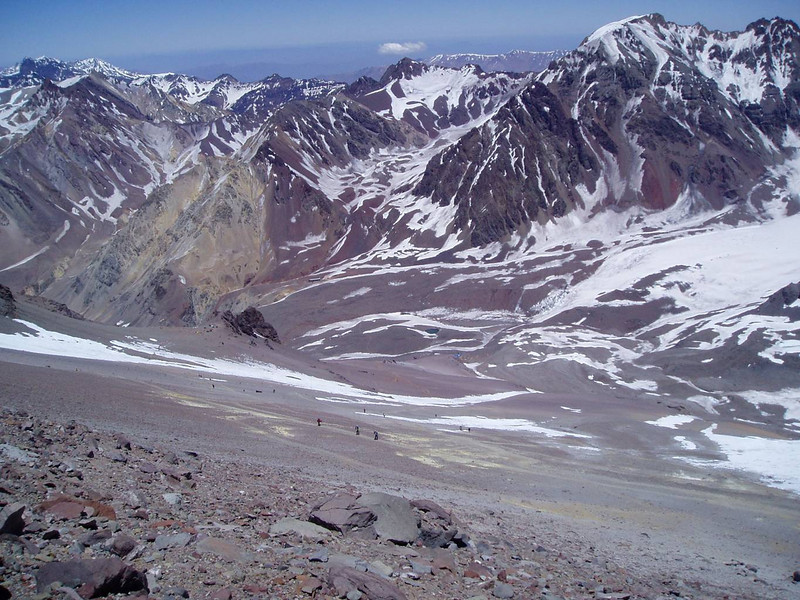 The Base Camp is all the way down and Canada – Camp 1 is on the left side.