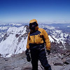 At the top of Aconcagua (6,962m / 22,841ft) – exit from the South Face behind me.