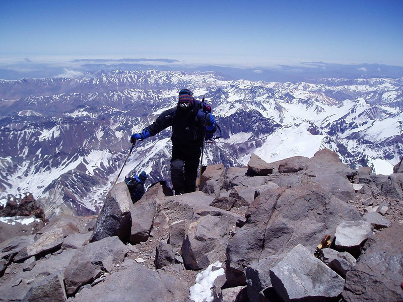 Fikret Karacic – a step away from the top of Aconcagua.