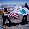 Fikret and me – Bosnian Americans at the top of Aconcagua.