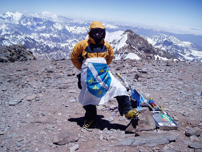 One more shot from the summit of Aconcagua.