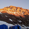 Alpenglow on Aconcagua's West Face above Base Camp.
