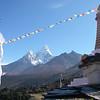 Ama Dablam (22,493ft/6.856m) from Tengboche monastery (12,664ft/3.860m)