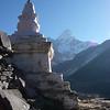 Buddhist Stupa just below Pangboche (12,894ft/3.930m)