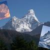 Naim's three mountain jewels:<br /> Alpamayo (19,511ft/5.947m) – South America, <br /> Ama Dablam (22,493ft/6.856m) – Asia, <br /> Matterhorn (14,688ft/4.477m) - Europe