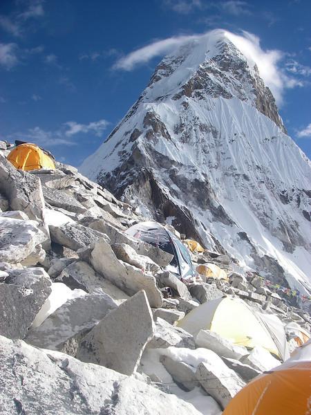 Ama Dablam (22,493ft/6.856m) south-west ridge from C1 (17,717ft/5.400m)