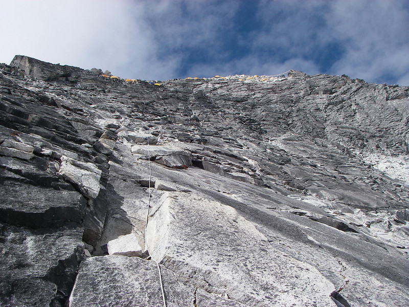 Camp 1 (C1) (17,717ft/5.400m) is on the ridge