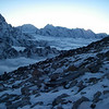 Sunset above Khumbu Valley from ABC (16,732ft/5.100m)
