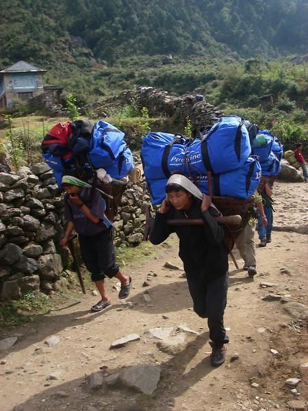 Porters - Khumbu Valley, Nepal