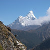 Ama Dablam (22,493ft/6.856m) from just above Namche Bazar (11,286ft/3.440m)