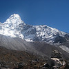 Ama Dablam (22,493ft/6.856m) south-west ridge from BC (15,256ft/4.650m)