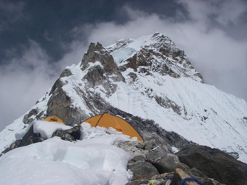 Ama Dablam (22,493ft/6.856m) south-west ridge from C2 (18,865ft/5.750m)
