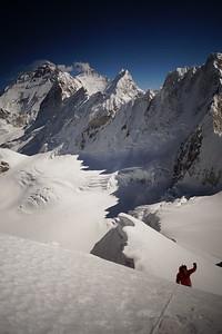 Towards C2. Impressive Everest massive is on the horizon.
