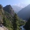 Beautiful Solu Khumbu Valley.<br /> Thamserku (6.608 m) is visible behind.