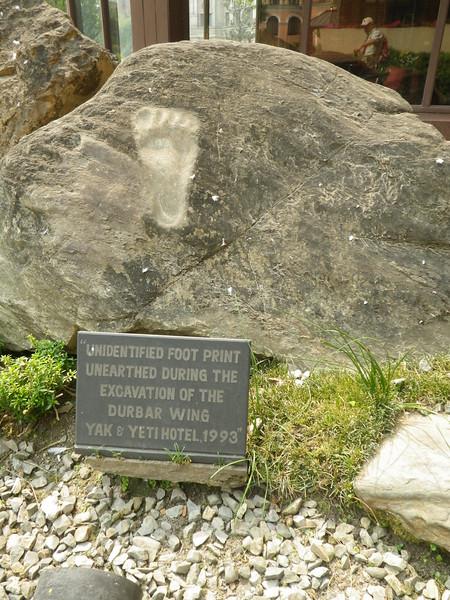 Unidentified footprint in Yak & Yeti hotel in Kathmandu, Nepal