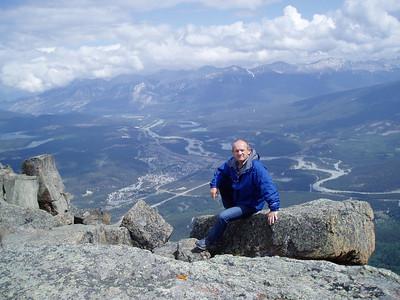 On the top of Whistler Mtn. 7,470ft (2.277m) -  3,243ft (973m) above Jasper, AL.