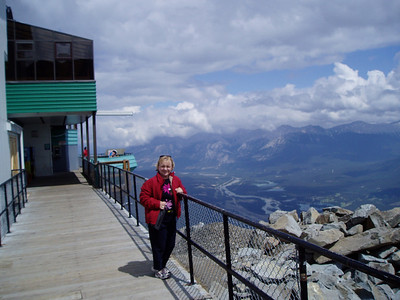 To the top comes Jasper tramway