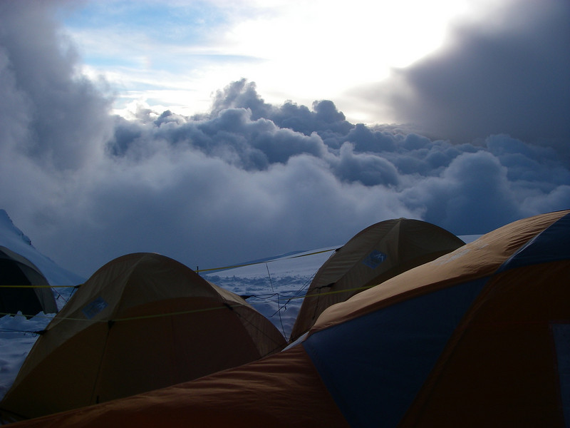 Camp 2 (C2) (23,392ft/7.130m) – storm is coming