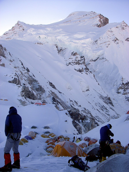 Camp 1 (C1) (20.833ft/6.350m) – Cho Oyu (26,906ft/8.201m) above