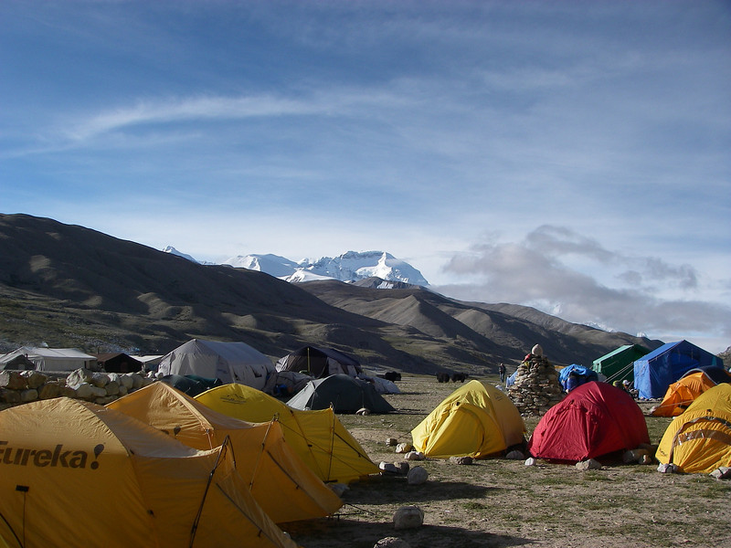 Base Camp (BC) (16,001ft/4.877m) – Cho Oyu (26,906ft/8.201m) behind