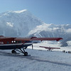When the weather is good, TAT (Talkeetna Air Taxi) is very busy.