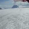 Snow and glaciers are everywhere... Kahiltna glacier, one of five big Denali's glaciers.