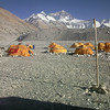 Volleybal playground at Base Camp.<br /> Wind did not allow any single game!