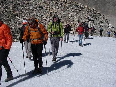 Acclimatization trek above Base Camp (505m = 1,657ft elevation gain)