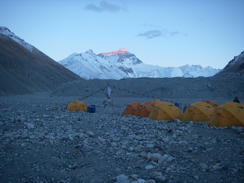 Sunset on Everest and our dreams ...