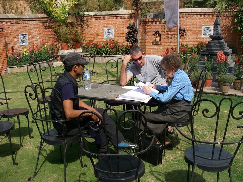 Dragan Jacimovic with Elizabeth Hawley, Himalaya climbers data collector