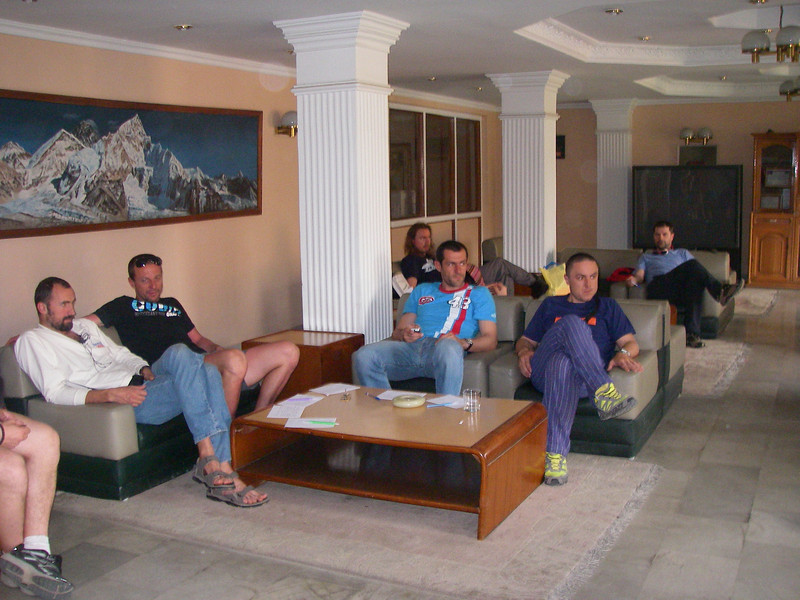 Some expedition members in hotel Manaslu