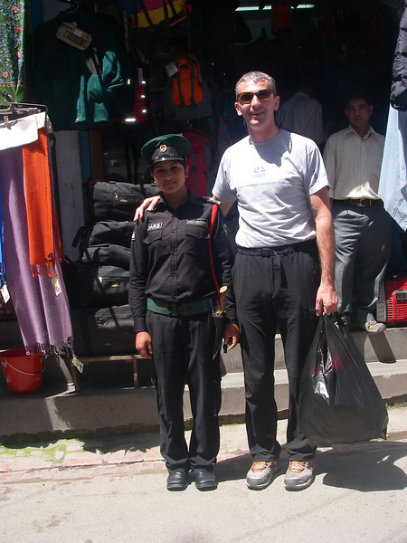 Dragan Jacimovic - expedition leader.<br /> Establishing good relationships with Nepal officials.