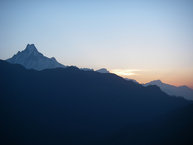 Machhapuchhre (6.993m = 22,943ft) from Poon Hill