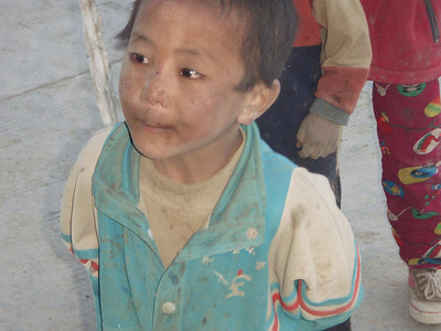 Boy from Tashi Zong (4.185m = 13,730ft)