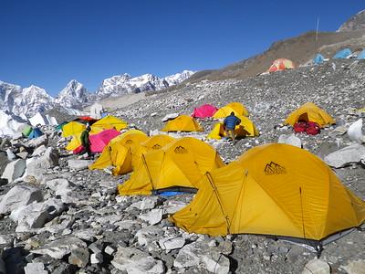 EBC Asian Trekking tents. View towards the south.