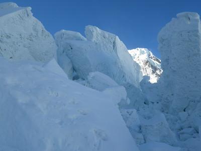 Khumbu icefall.