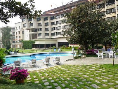 In Kathmandu (4,692ft =1.430m) I stayed at 5 stars Yak & Yeti hotel.