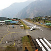Most dangerous airport in the world - Lukla airport in Solu Khumbu Valley (9,318ft = 2.840m).