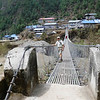 Suspension bridge in Phakding (8,563ft = 2.610m) where we spent our first night in Solu Khumbu Valley (Apr 4th).