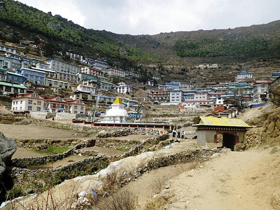 Namche Bazar (11,286ft = 3.440m) - Sherpa capital or capital city of Khumbu Valley.