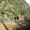 One of the suspension bridges in Solu Khumbu Valley.
