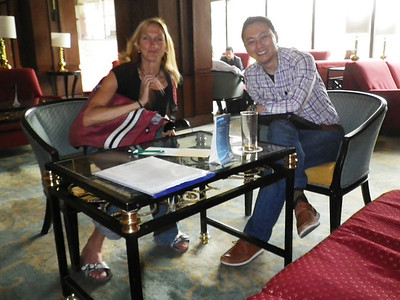 Billi Bierling, Himalayan Database secretary and Dawa Sherpa, Asian Trekking secretary.