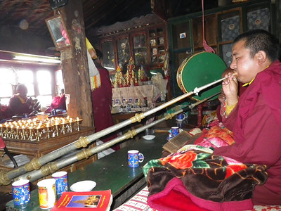 Religious ceremony in one of the houses in Thame (12,533ft = 3.820m).
