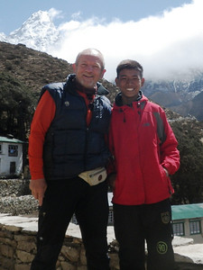 With Mingma Tenzing from Pangboche (12,894ft = 3.930m) - I am supporting his school education.