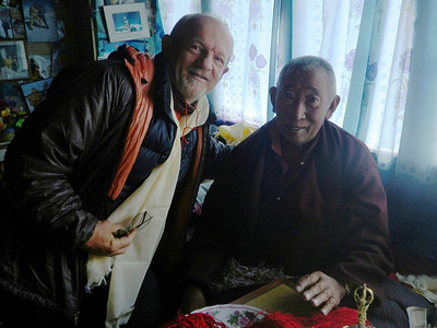 With Lama Geshe, the most popular Lama in Solu Khumbu Valley.