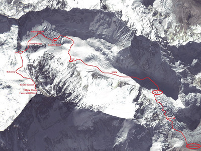Everest: BC - Summit route.