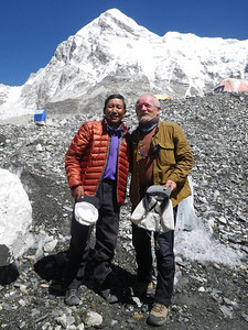 With Pertemba Sherpa - Base Camp manager on May 22nd.